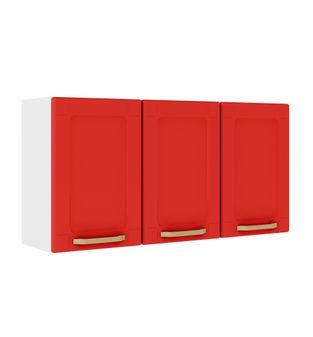 Armário Bertolini Colors 03 Portas Vermelho Rouge 6009802