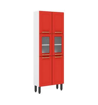 Paneleiro Bertolini Colors 06 Portas Vermelho Rouge 6037802