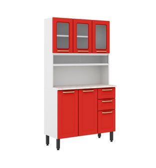 Conjunto / Kit Bertolini Colors 06 Portas 02 Gavetas Vermelho Rouge 614580254
